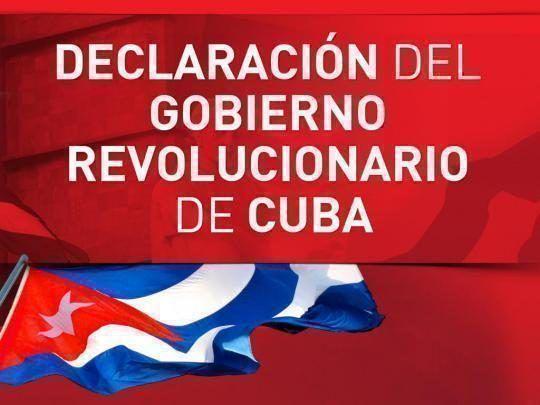Declaración del Gobierno Revolucionario: Urge detener la aventura militar imperialista contra Venezuela