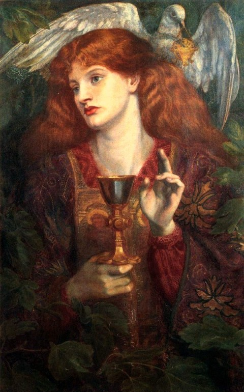 Dante_Gabriel_Rossetti_-_The_Damsel_of_the_Sanct_Grael_(1874)