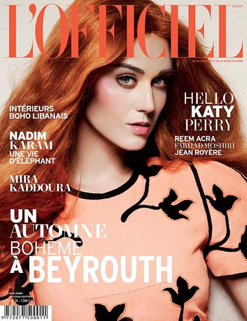 Katy perry on the cover of L_Offieciel