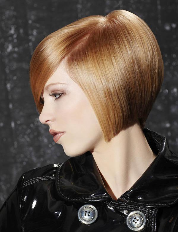 Light ginger bob hair cut
