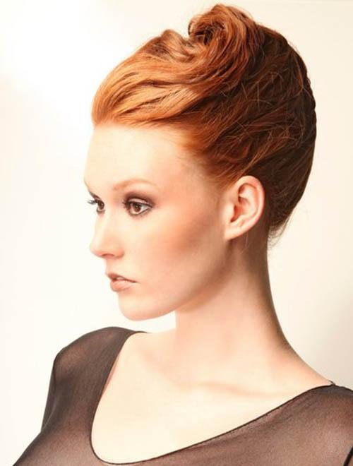 Classic high french roll updo ( banana updo)