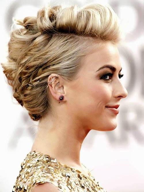 Medium to short hairstyle with updo