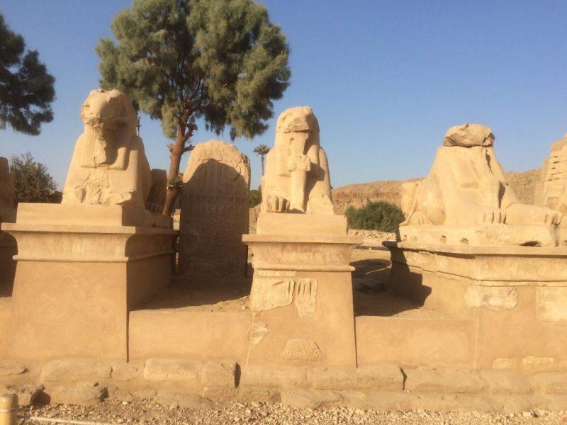 Ram statues at Karnak Temple