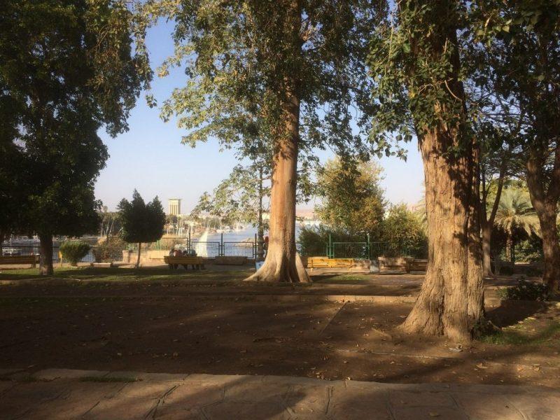 view of firyal garden in aswan, egypt