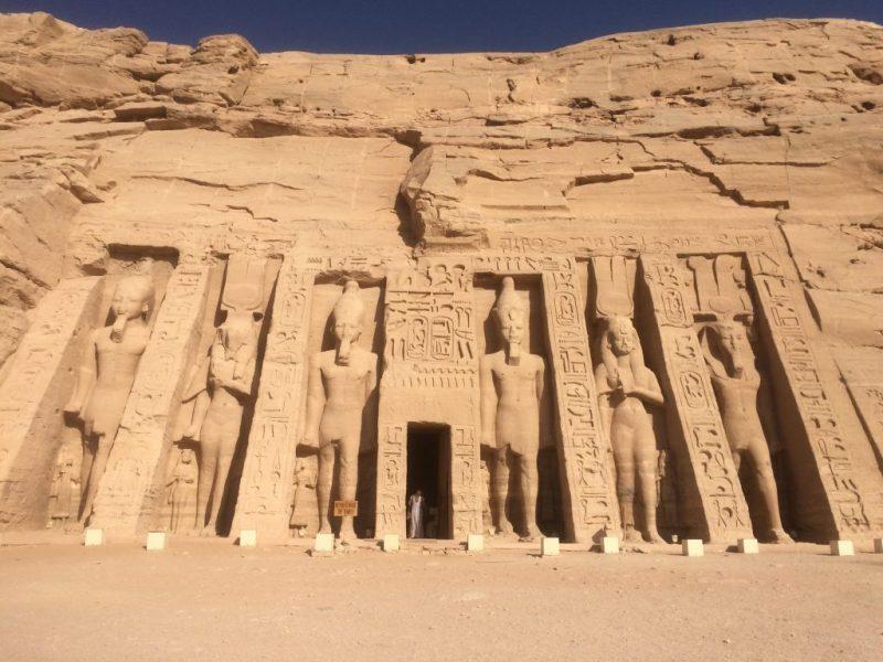 temple of hathor in abu simbel, egypt