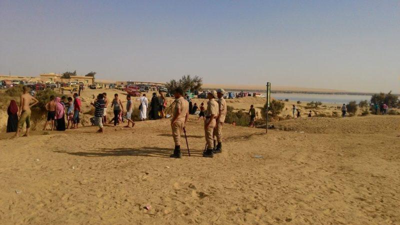 militer in wadi el rayan waterfall