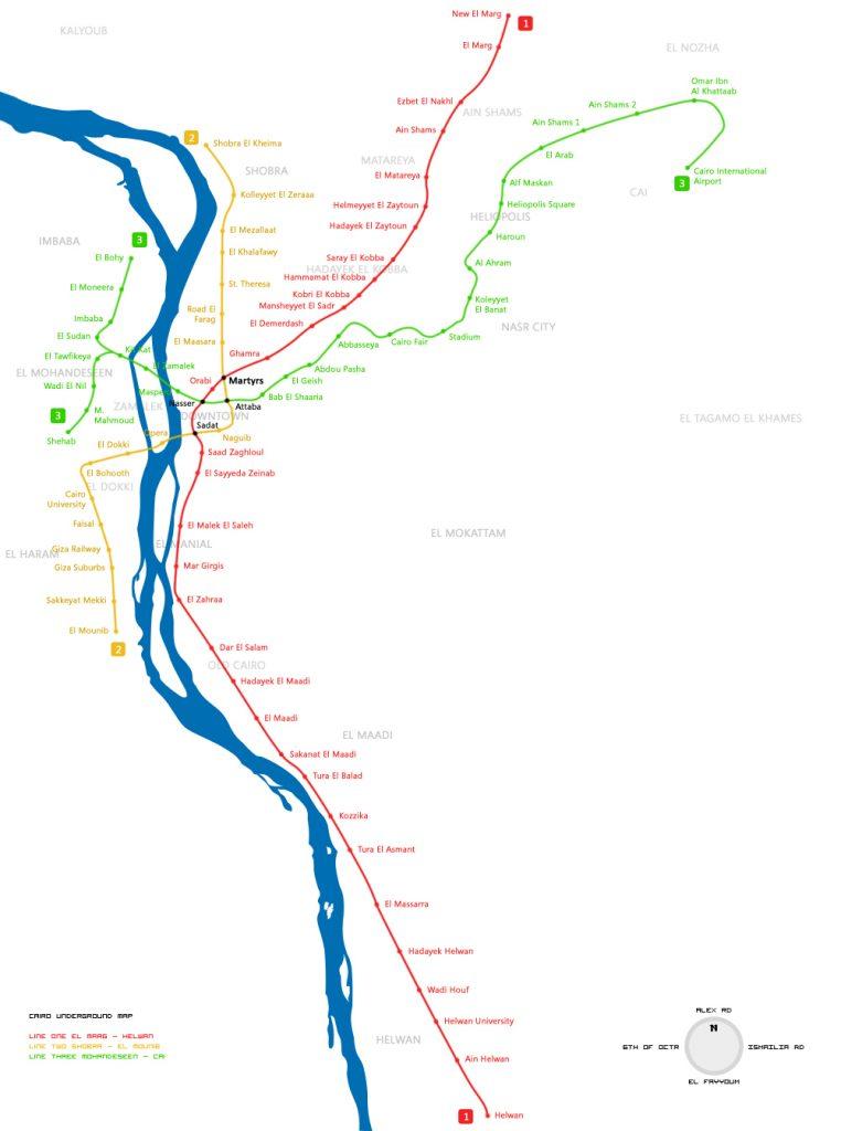 cairo metro map 2018