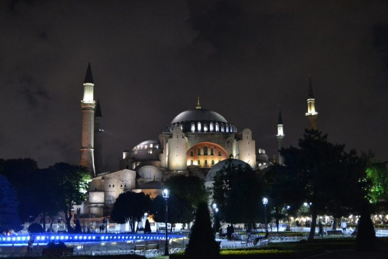 Hagia Sophia in the night