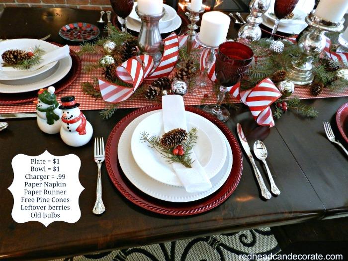 Affordable Christmas Table 2