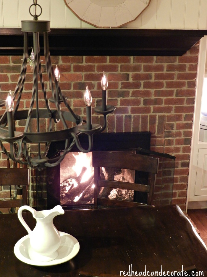 Beautiful Fire in Redhead's Kitchen