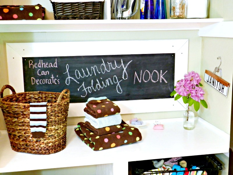 Laundry Folding Nook by Redhead Can Decorate