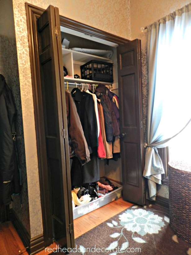 laundry closet before
