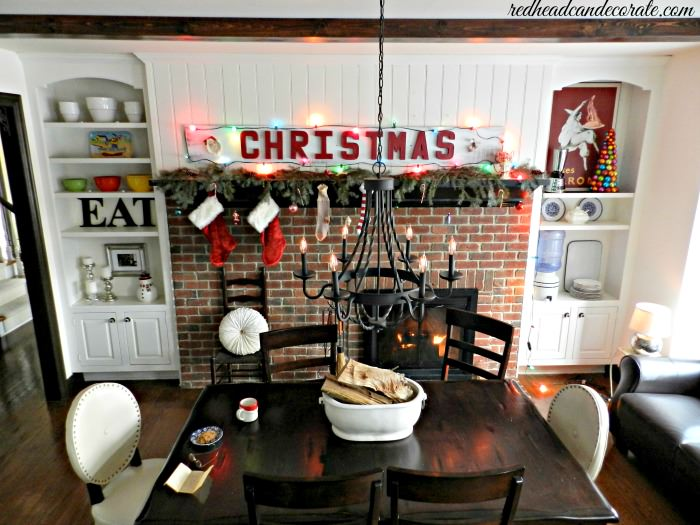 Vintage Christmas with redheadcandecorate.com