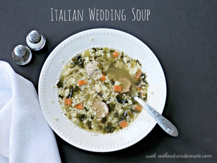 Italian Wedding Soup Recipe | redheadcandecorate.com