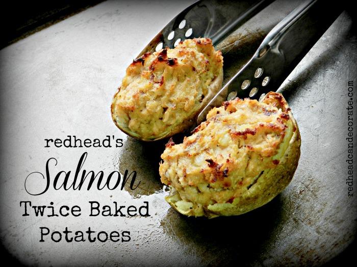 Salmon Twice Baked Potatoes