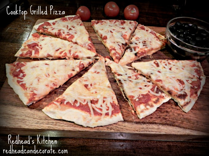 Grilled Cooktop Pizza w: Redhead's Kitchen