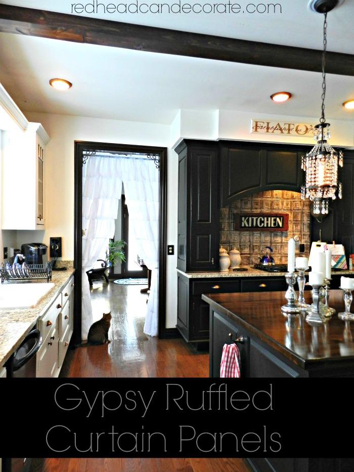 Gypsy Ruffled Curtain Panels