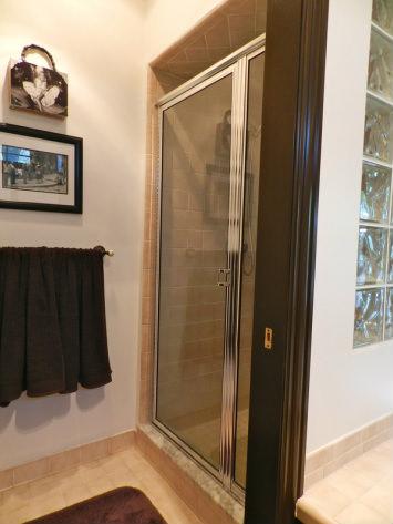 shower door before