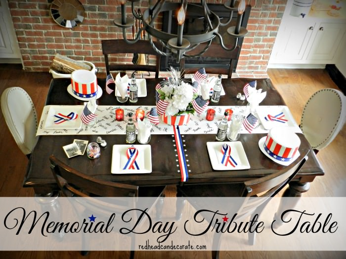 Memorial Day Tribute Table