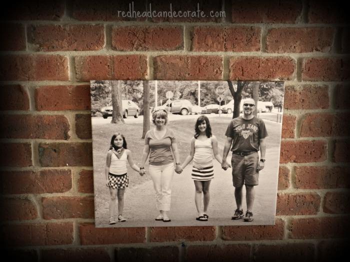 Family Photo Canvas Ideas