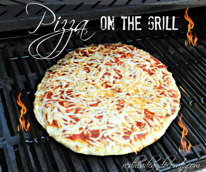 Pizza on the Grill Redhead Can Decorate @ Debbiedoo's