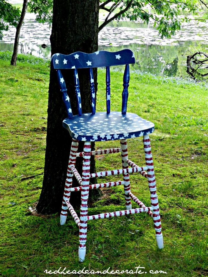 Red, White, and Blue Stool