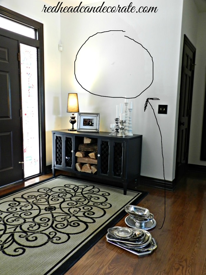 How to make a silver platter wall.