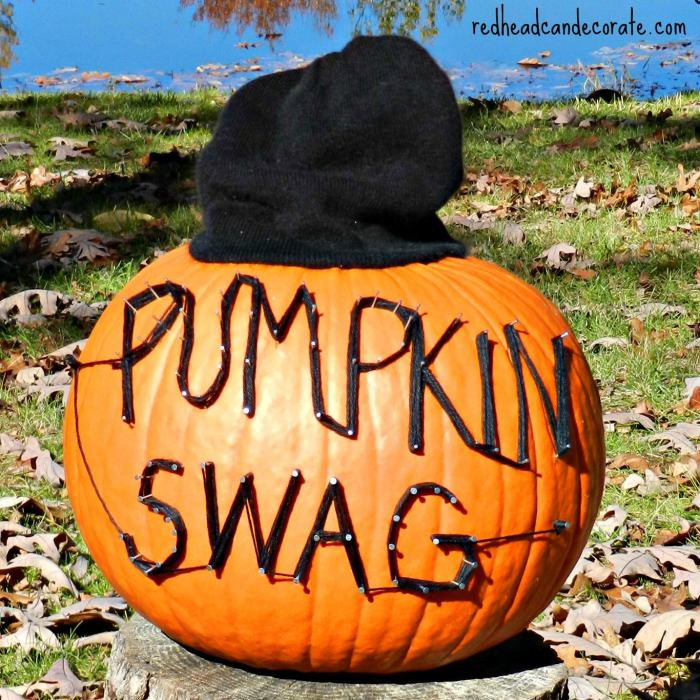 Easy Pumkin Decorating (instead of the messy kind) #pumkin #Halloween