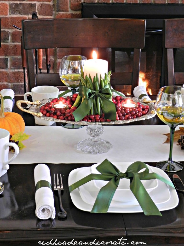 Thanksgiving Harvest Tablescape Redhead Can Decorate