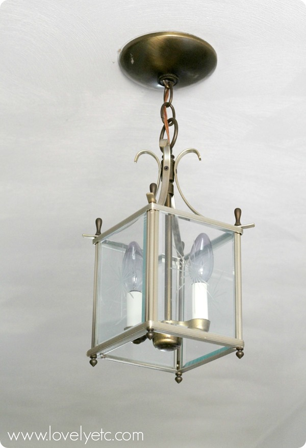 Diy orb chandelier redhead can decorate dated brass lantern ready to be transformed aloadofball Images