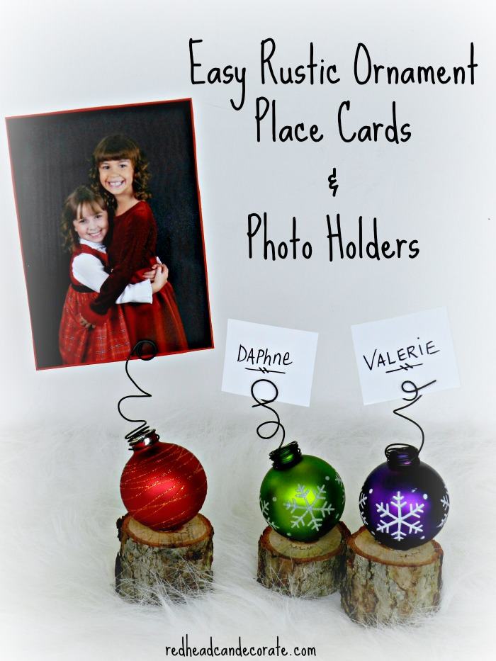 Easy Christmas Place Cards or Photo Holder