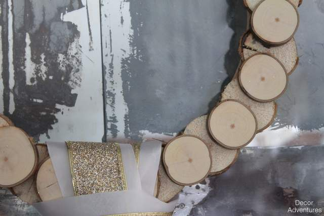 Rustic Wood Slice Wreath