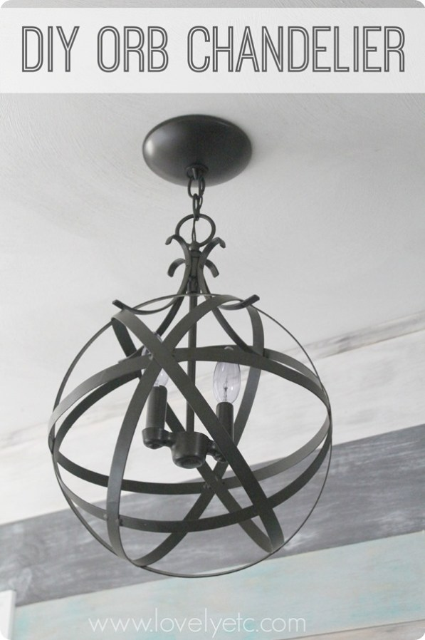 Diy orb chandelier redhead can decorate diy orb chandelier 2 aloadofball Image collections