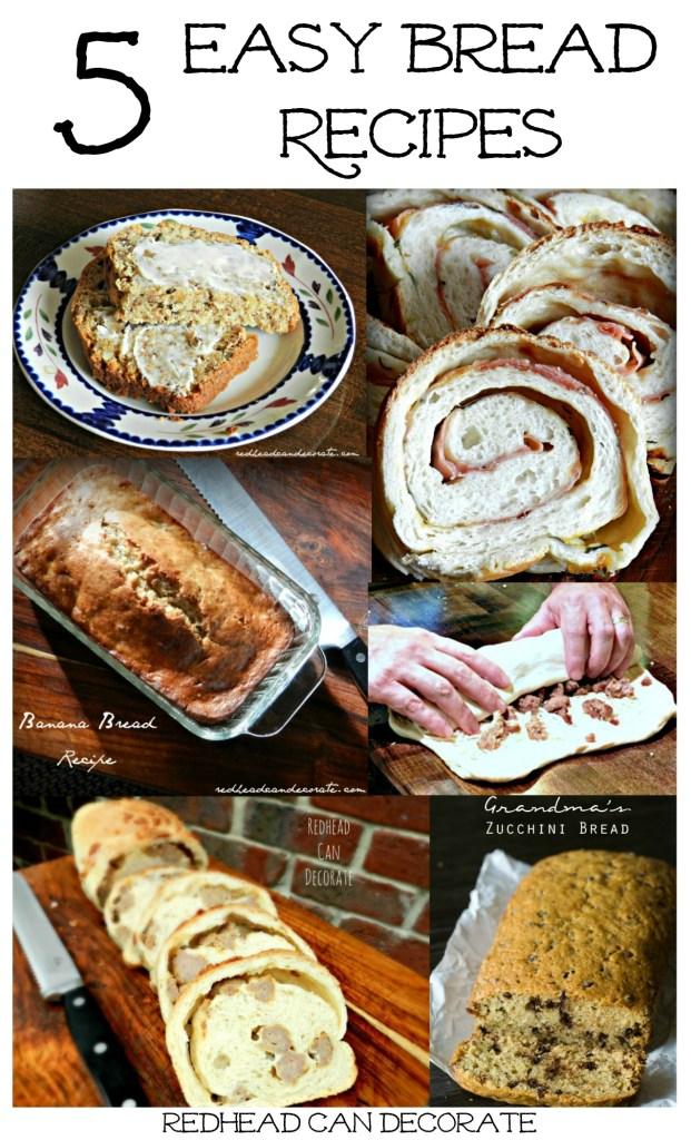 5 Easy Bread Recipes