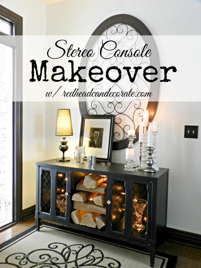 Stereo Console Makeover Idea