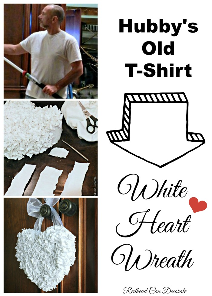 How to transform an old t-shirt into a pretty wreath!