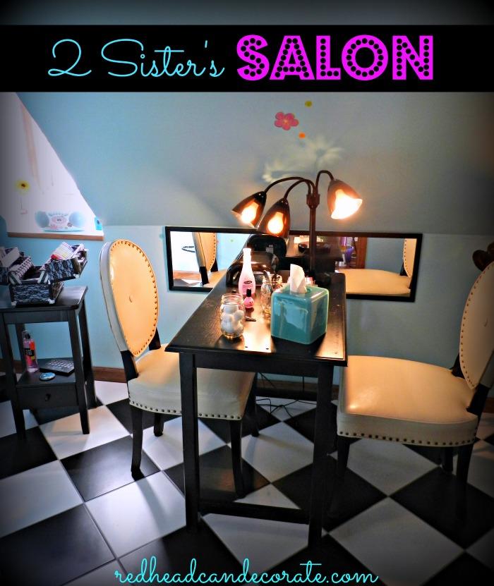 DIY Teen Nail Salon Idea