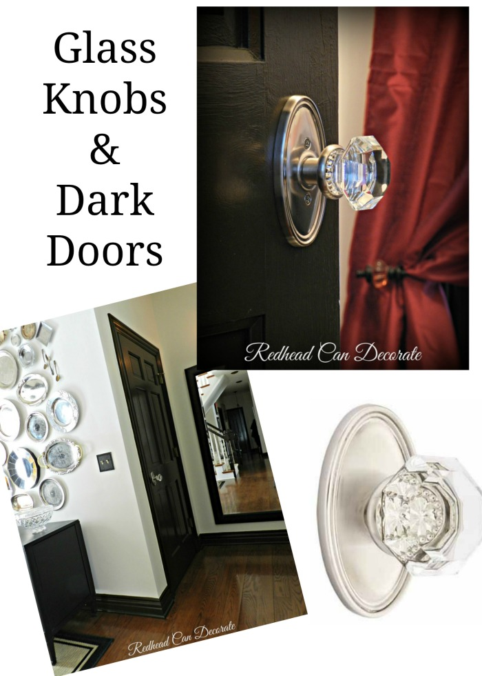 Glass Knobs & Dark Doors