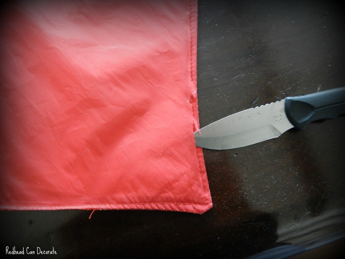 How to transform a placemat into a pillow!