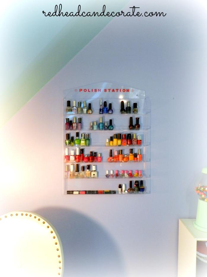 Make a teen nail salon hangout in a small space!