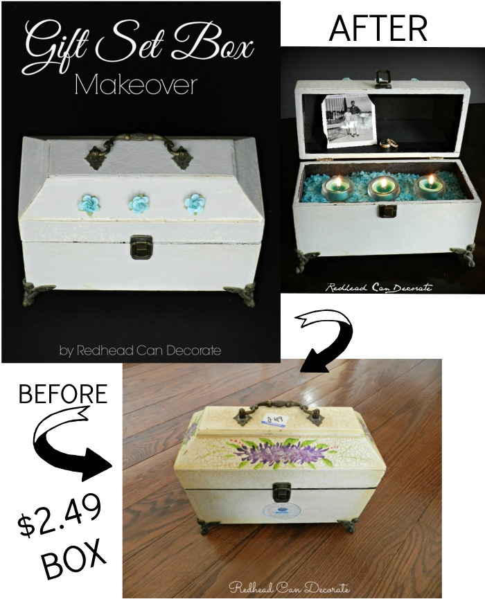 Awesome Gift Set Box Makeover Using Paint