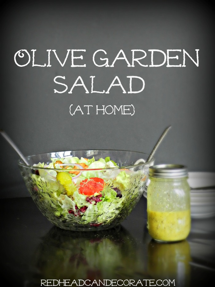 How to make your own Olive Garden Salad, just like there's but way better for you! This version is made with olive oil.