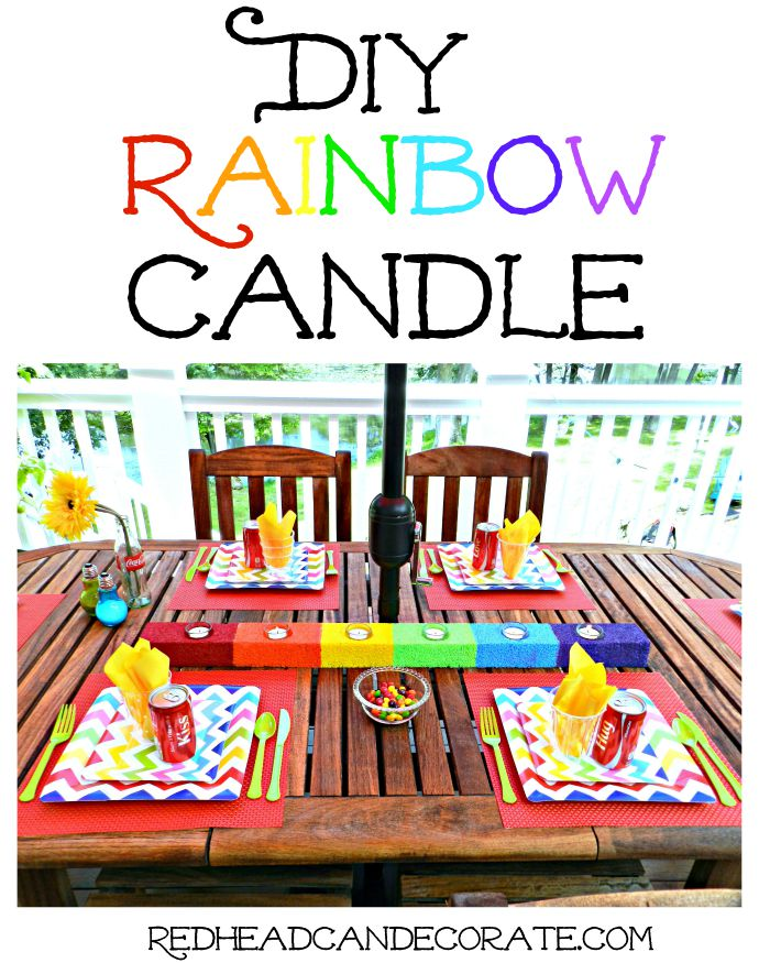 DIY Rainbow Candle Tutorial