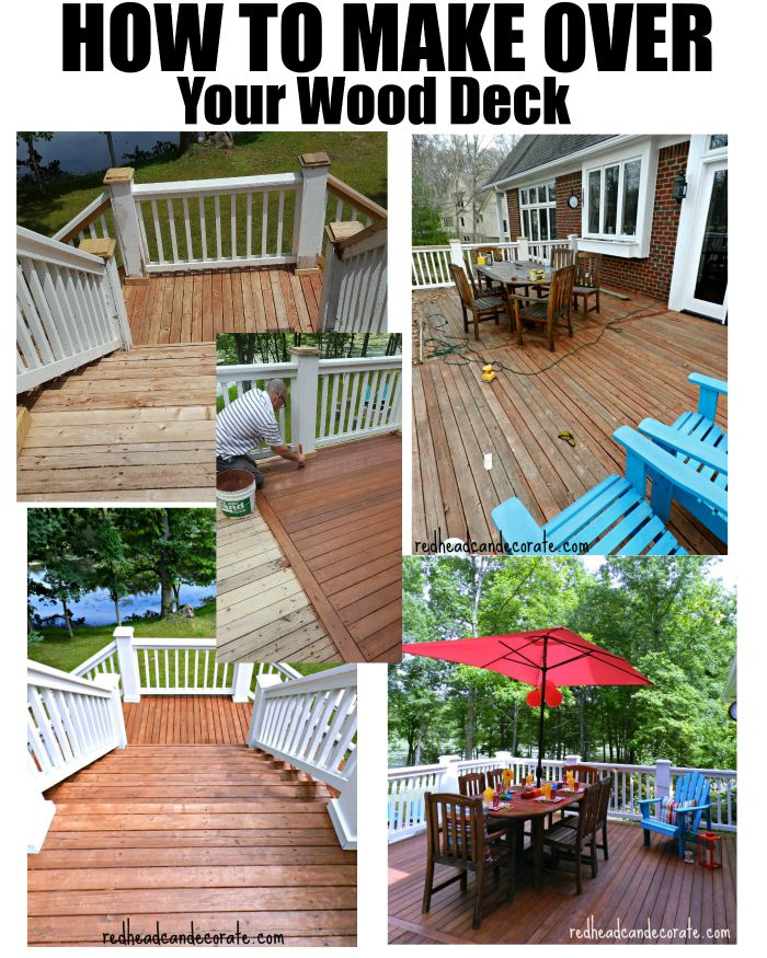 Full Tutorial on HOW TO MAKE OVER YOUR WOOD DECK