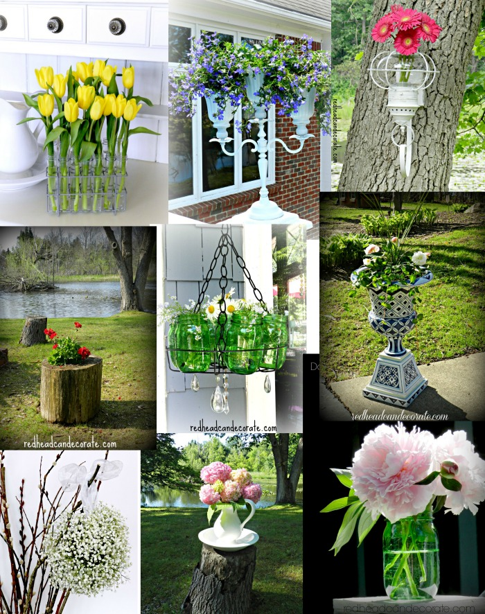 Think Outside The Vase-alternatives to ordinary flower vases or pots!