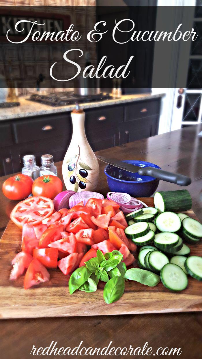 Tomato & Cucumber Salad Recipe