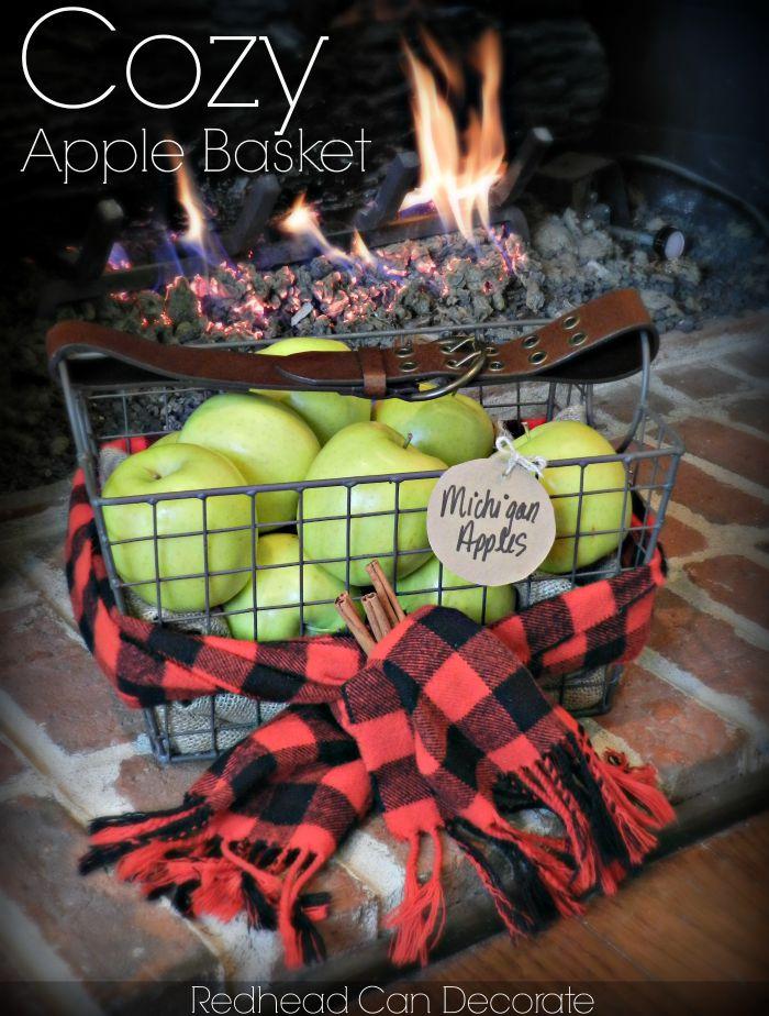 Cozy Apple Basket