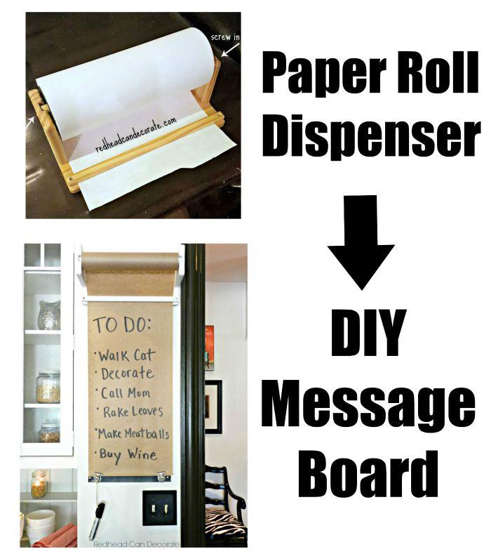 Repurposed Paper Roll Dispenser