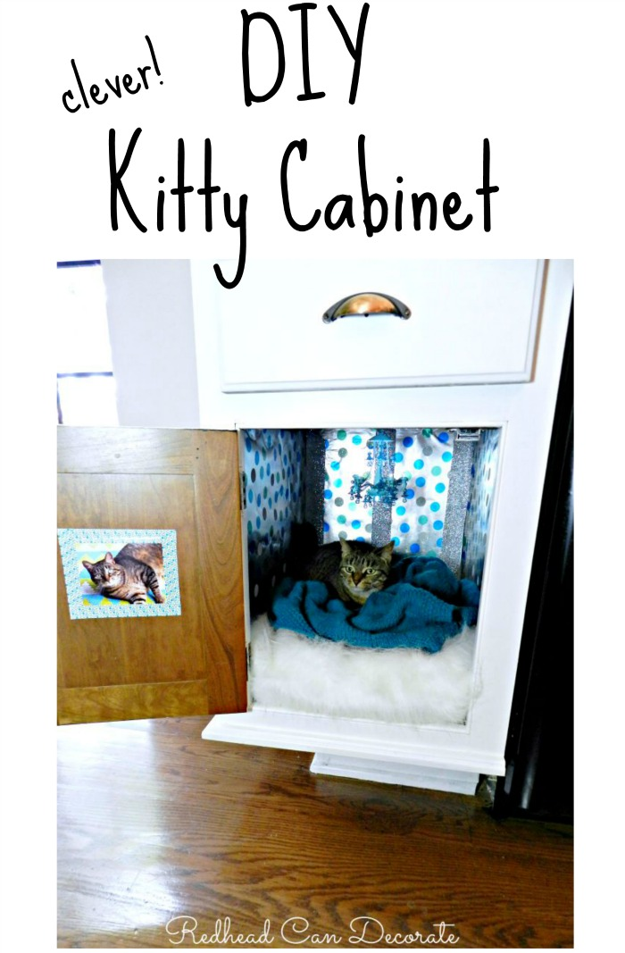 Clever DIY Kitty Cabinet