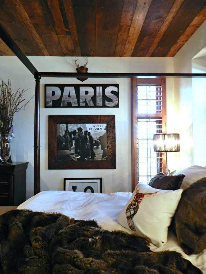 DIY Wood Planked Ceiling